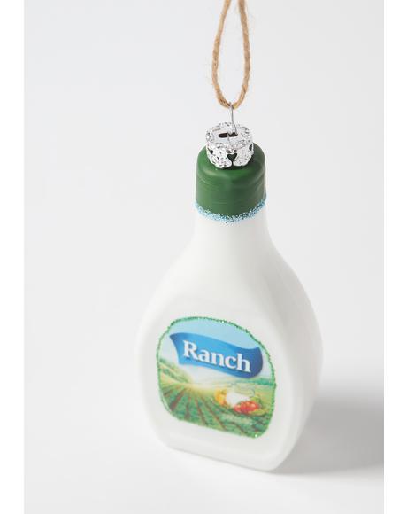 Saucy Santa Ranch Ornament