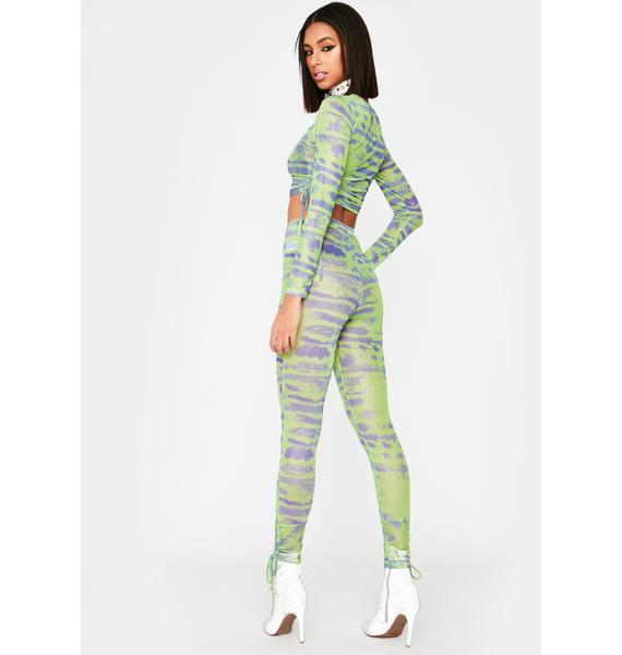 Lime Tough Competition Mesh Pants