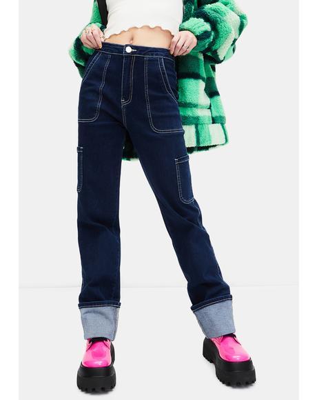 Ride The Wave Cuffed Carpenter Jeans