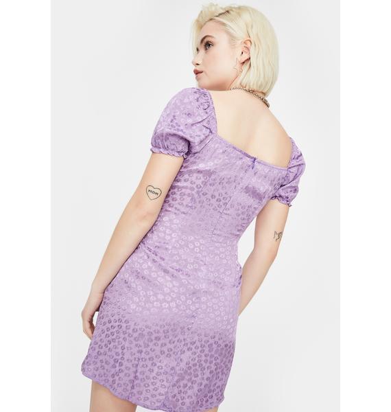 Motel Ditsy Rose Lavender Lonma Mini Dress