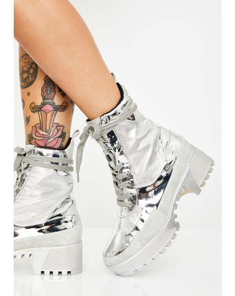 Metal Armed N' Dangerous Combat Boots