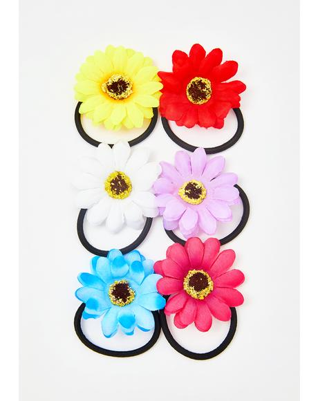 Flower Girl Hair Ties Set