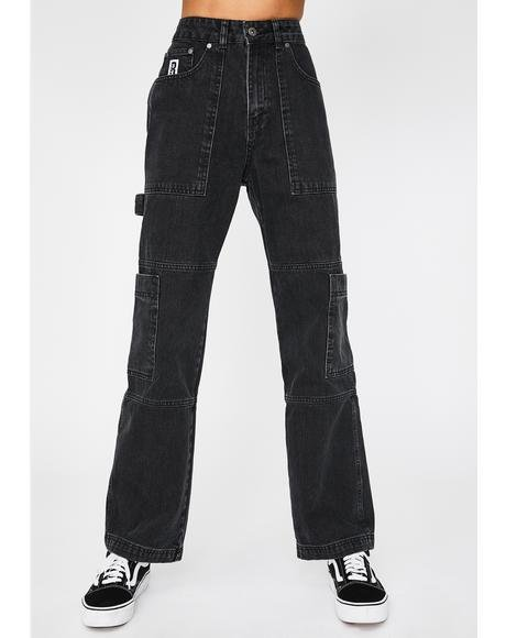 Charcoal Combat Jeans