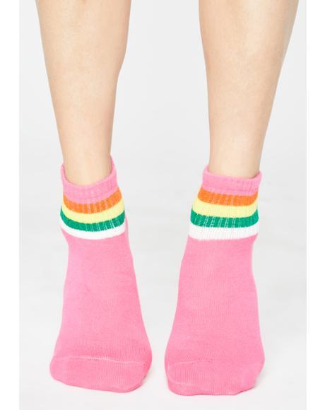 Pixie Ova The Rainbow Ankle Socks