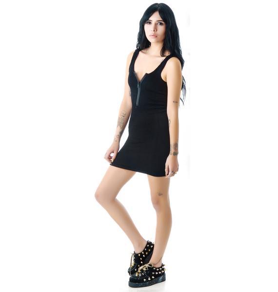 Tripp NYC Zip Up Pucker Skinny Dress