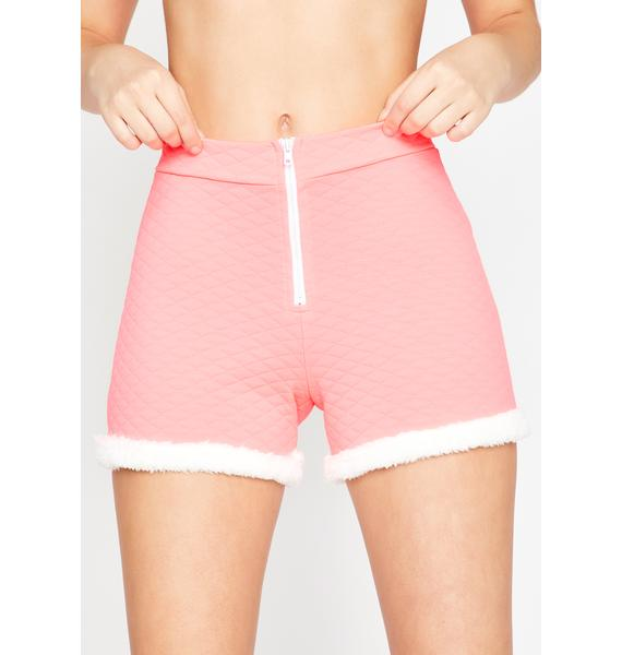 Soft Gurl Hours Fur Trim Shorts