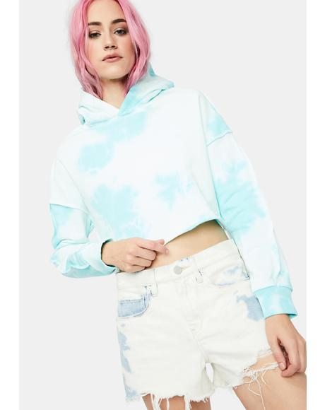 Easy There Tie Dye Cropped Hoodie