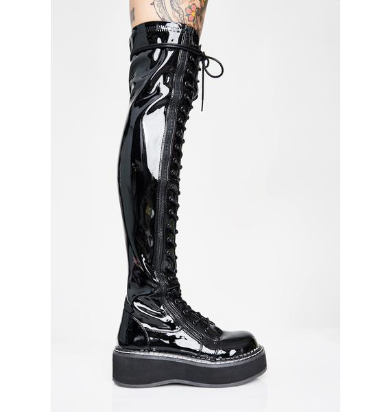 Demonia Grand Stand Knee High Boots