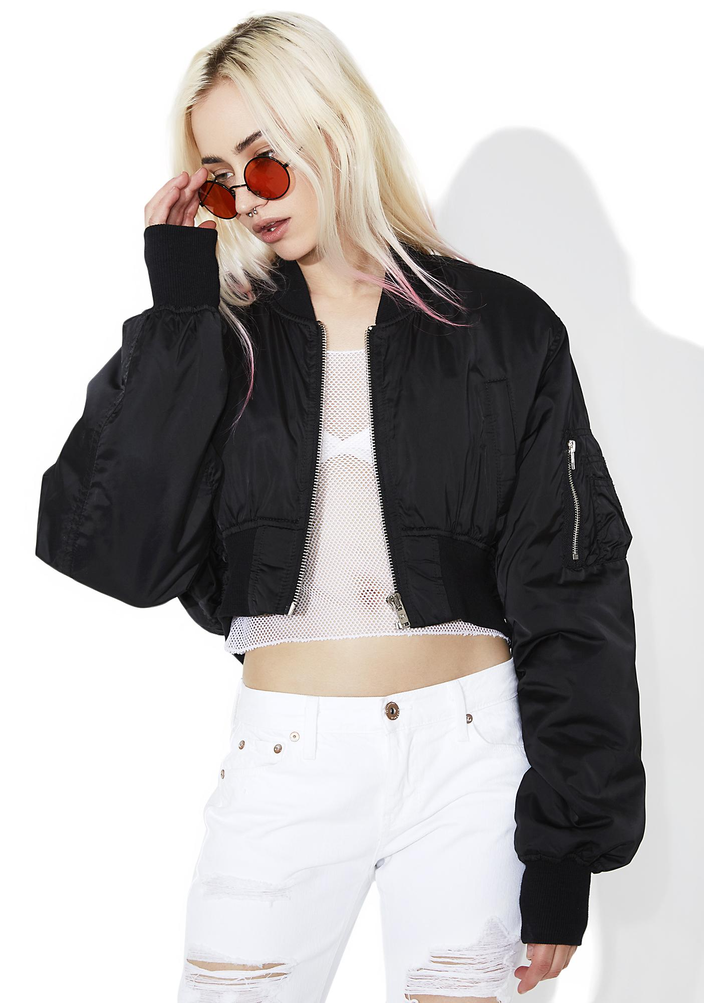 Current Mood Villain Cropped Bomber