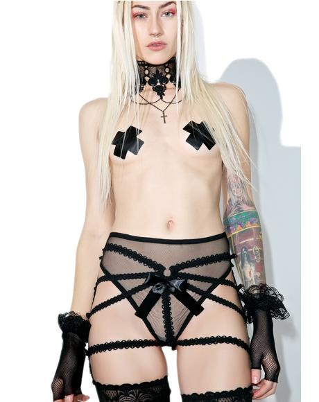 Captivate Me Strappy Garter Belt