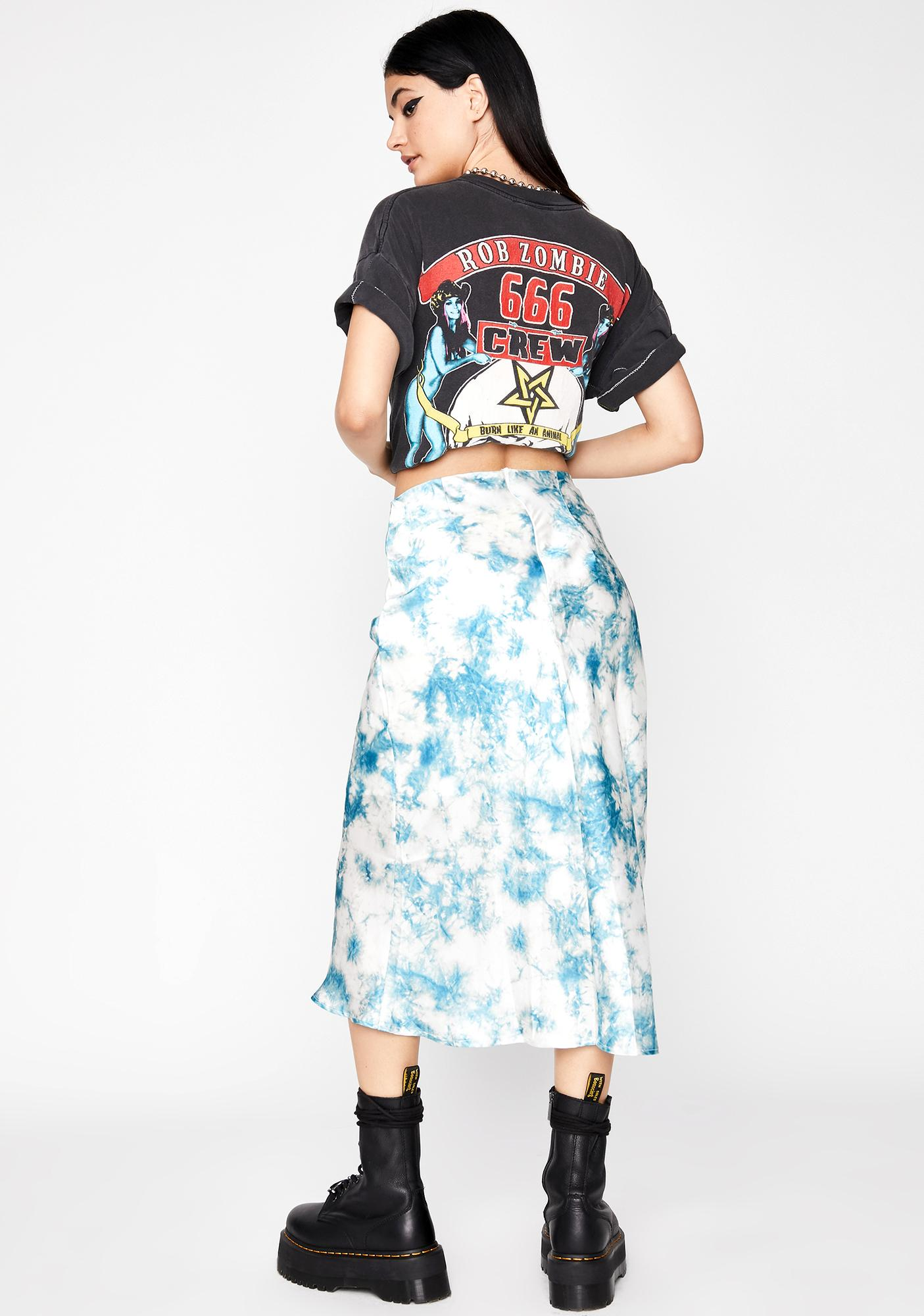 Cotton Candy Skies Midi Skirt