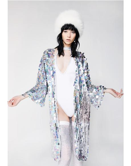 Glimmer Goddess Sequin Kimono