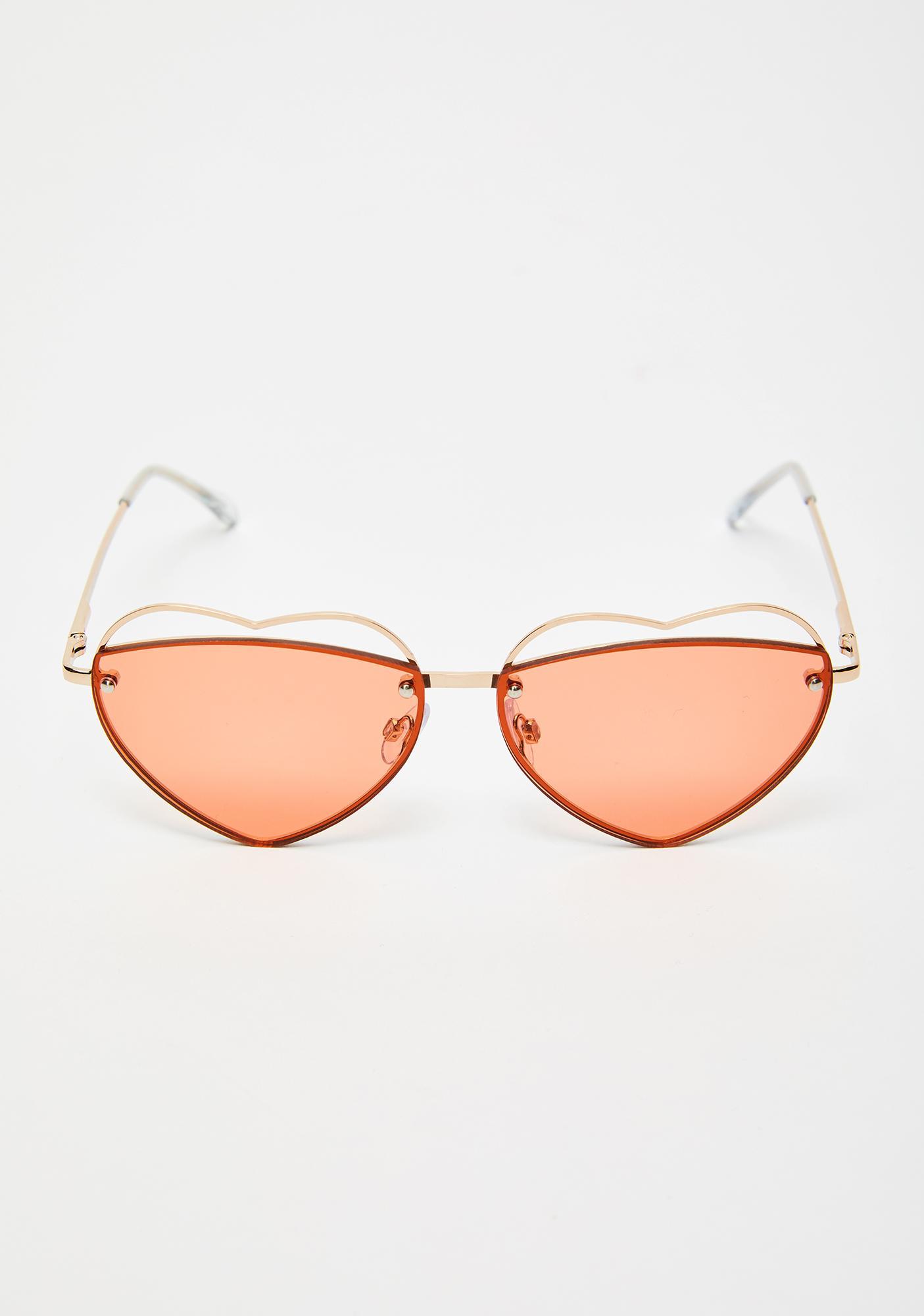 Sights Set On U Heart Sunglasses