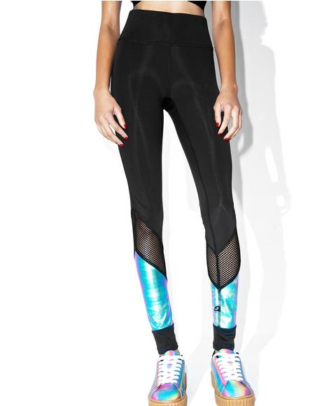 Oil Slick Metallic Leggings
