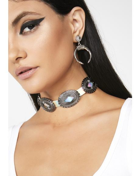 Space Rodeo Hologram Choker