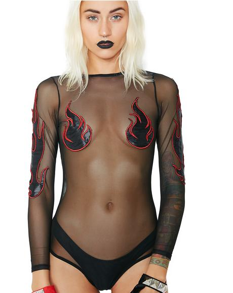 Doomed Goddess Bodysuit