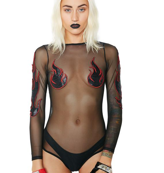 Club Exx Doomed Goddess Bodysuit