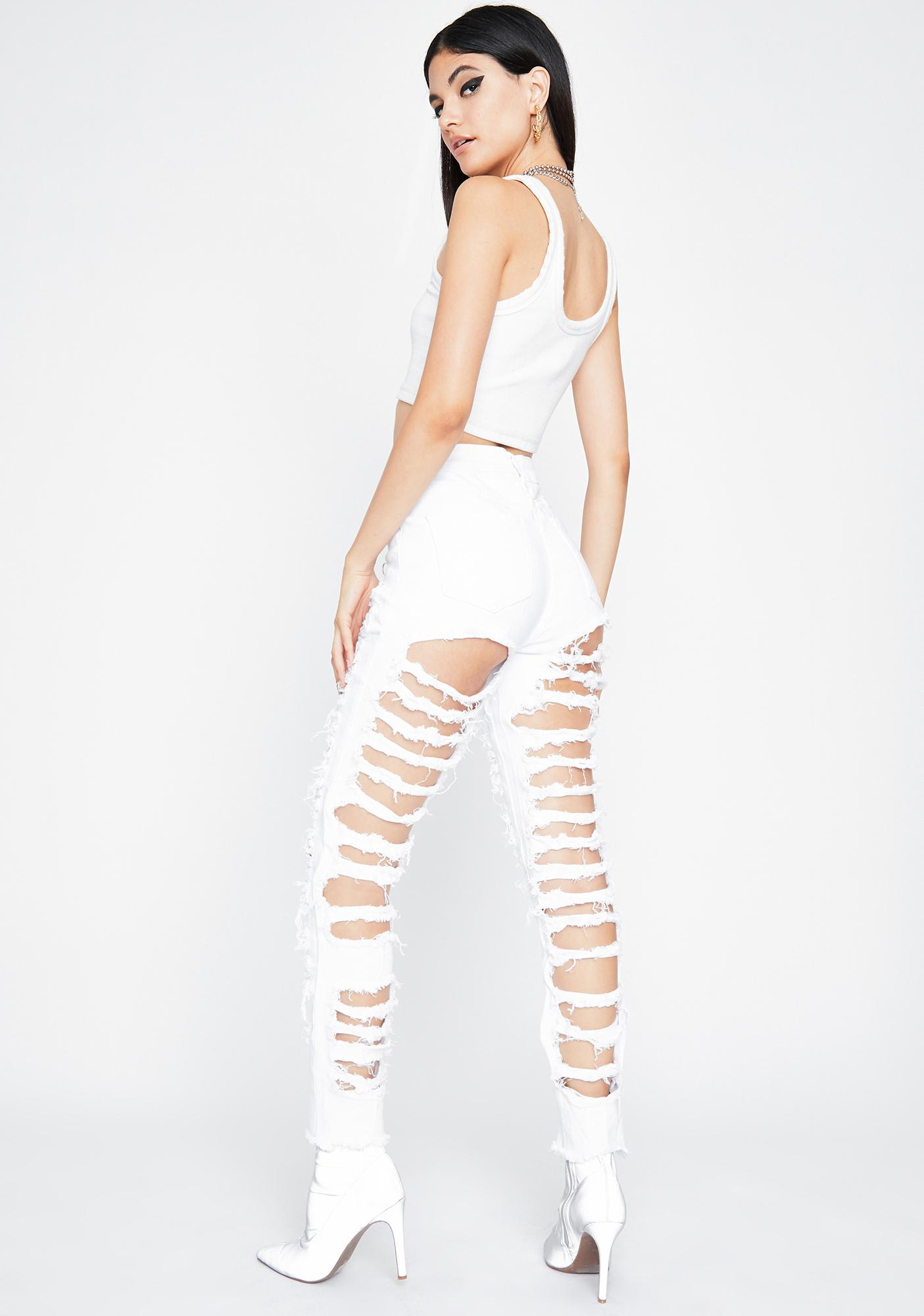 Pure Exxxtra AF Distressed Jeans