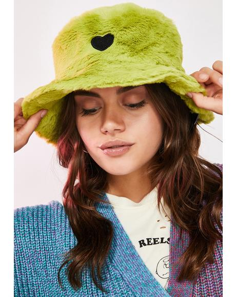 Slime Green Furry Hat
