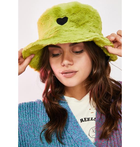 Lazy Oaf Slime Green Furry Hat