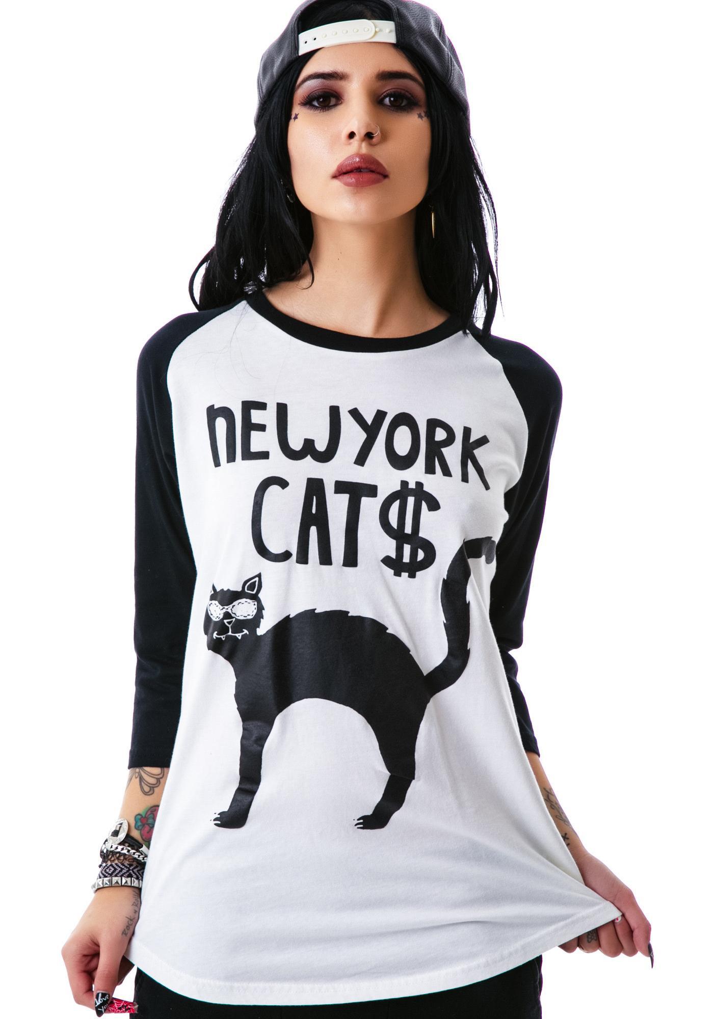 Halfman Romantics NY Cats Raglan Tee