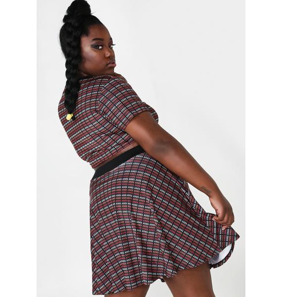 HOROSCOPEZ Only Aries Addicted Flared Skirt