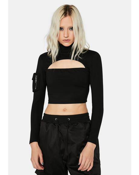 Disorder Cut-Out Crop Top