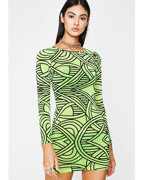 Digital Can't Tie Me Down Mini Dress