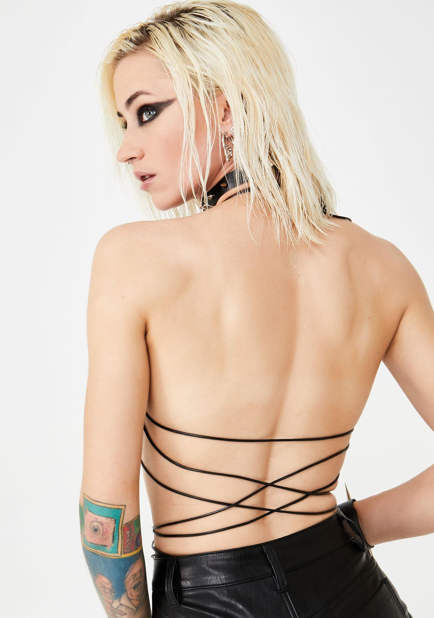Club Exx Wastelands Spiked Bra Top