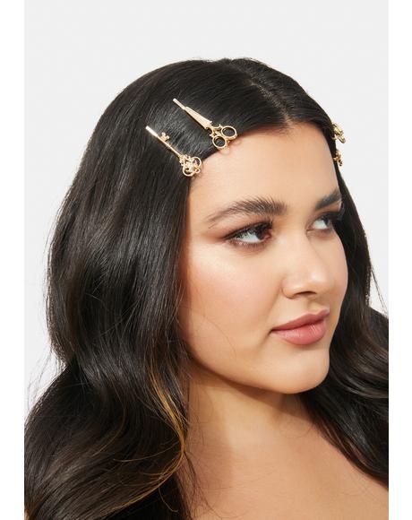 Snip Snap Scissor Hair Clips