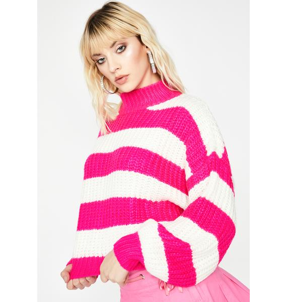 Sweet Growing Tired Striped Sweater