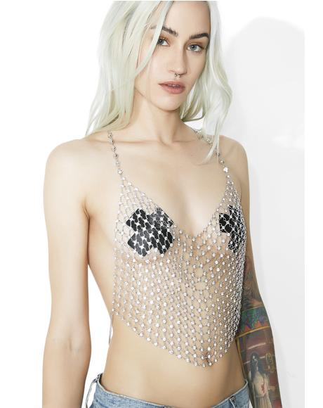 Shimmy Shimmy Rhinestone Chain Top
