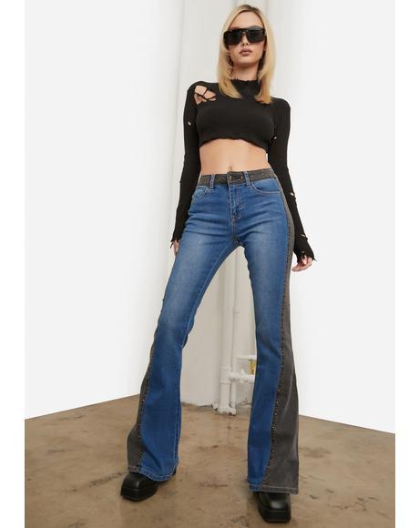 Saddlin' Up Stud Flare Jeans