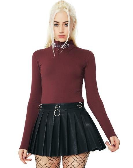 Spade Pleated Mini Skirt