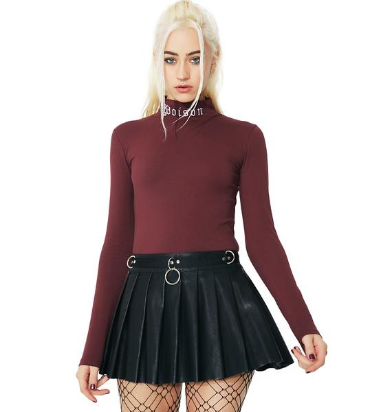 Current Mood Spade Pleated Mini Skirt