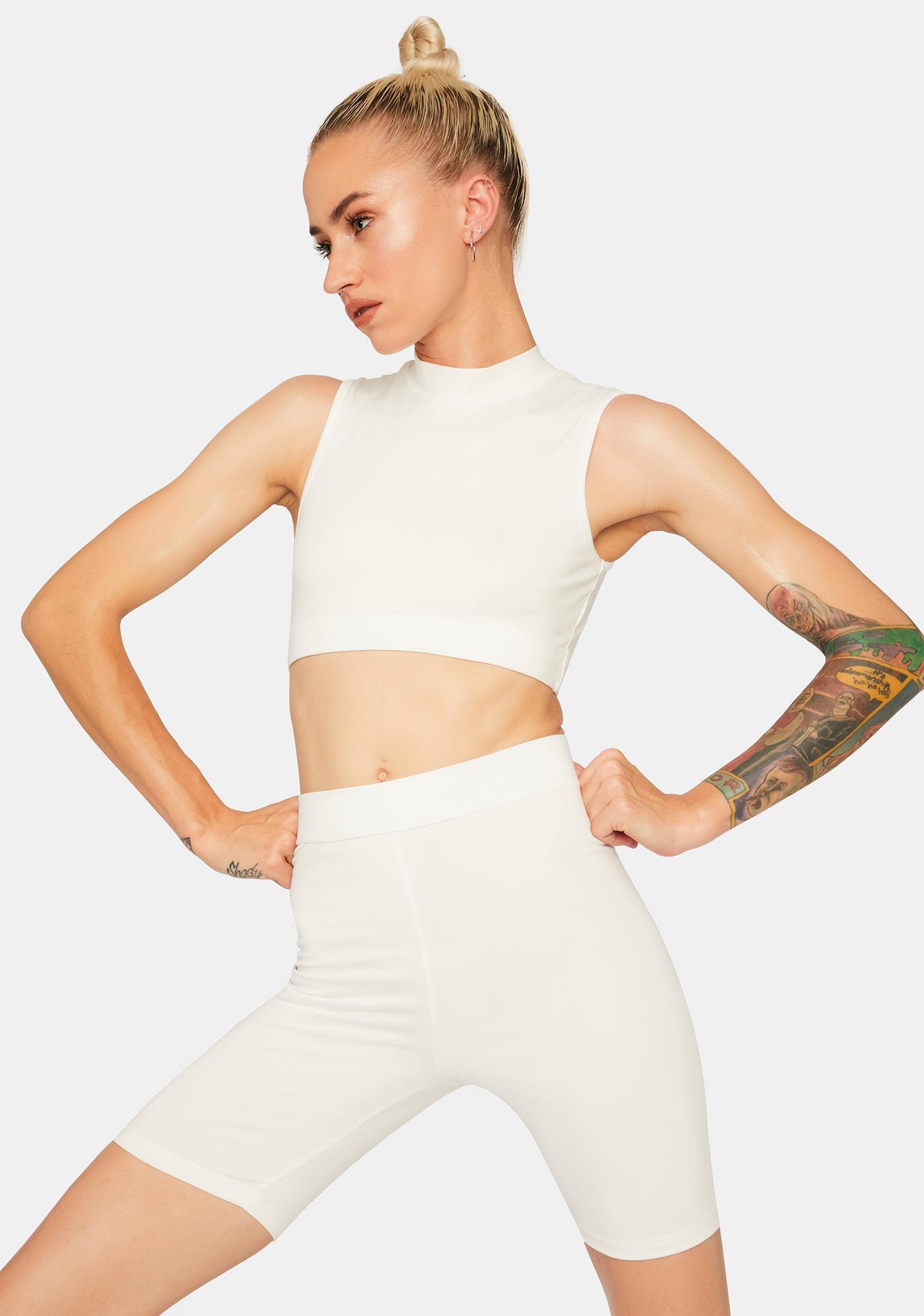 Model Uncover Biker Shorts Set