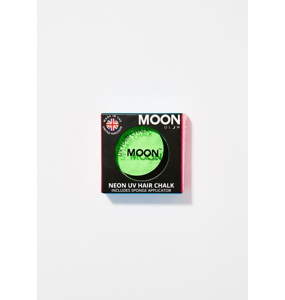Moon Creations Neon Intense Green UV Hair Chalk