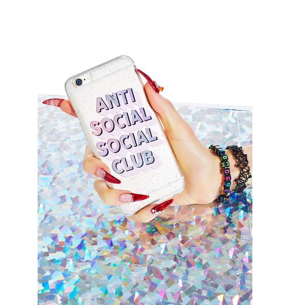 Skinnydip Anti Social Club iPhone Case