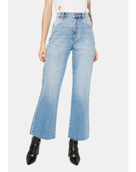 June Blue Organic Eastcoast Flare Crop Jeans