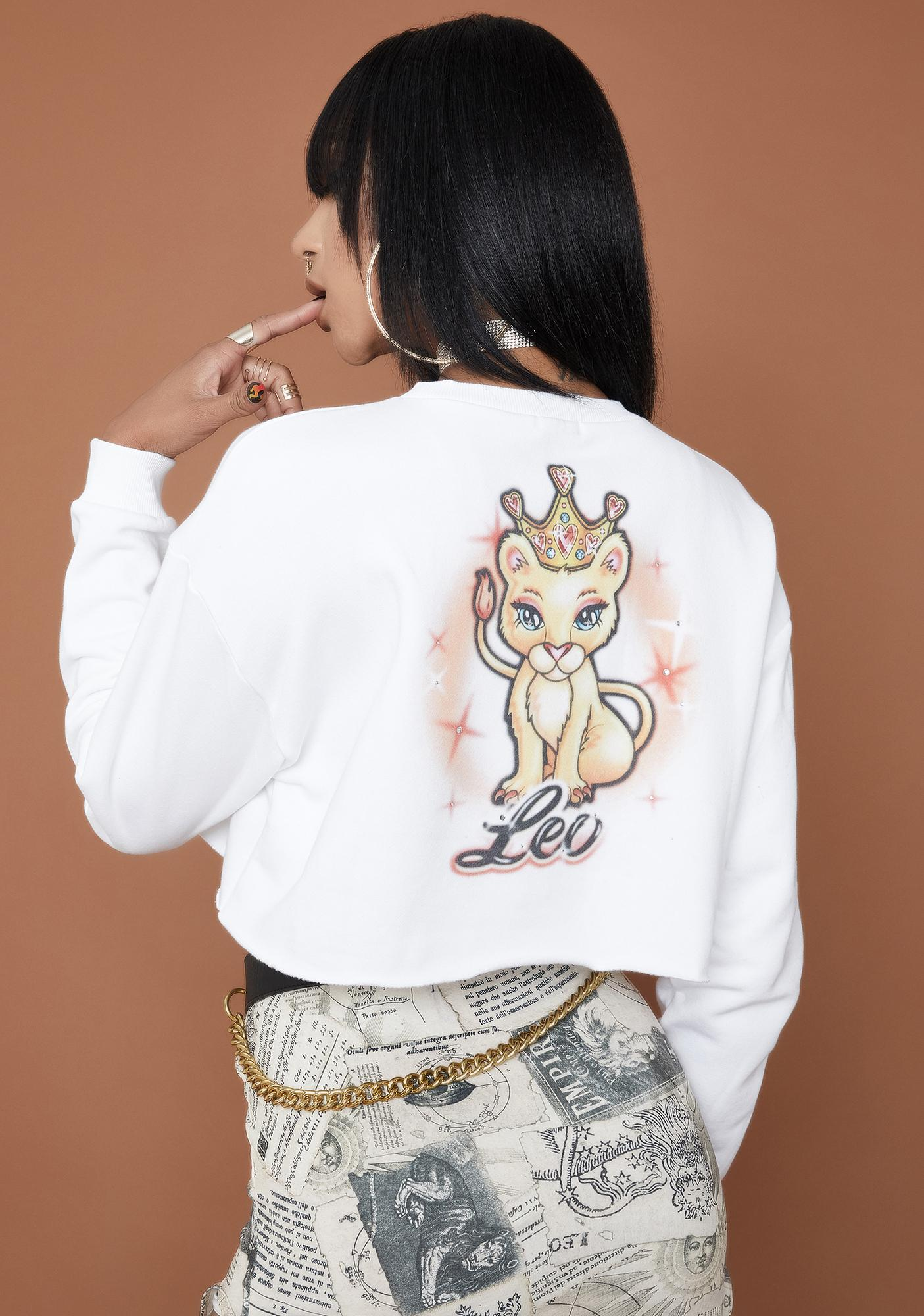 HOROSCOPEZ Leo Rep Your Roots Airbrush Sweatshirt