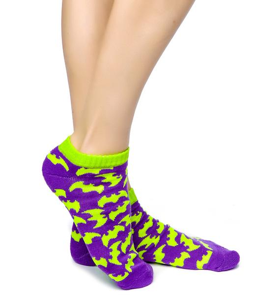 Gotham City Bat Ankle Socks