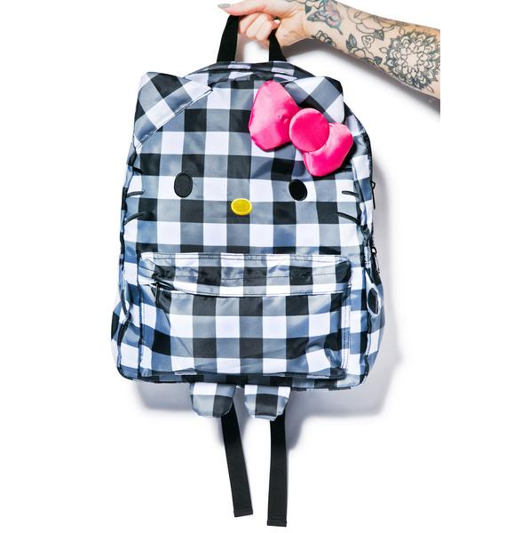 Sanrio Hello Kitty Checkered Backpack