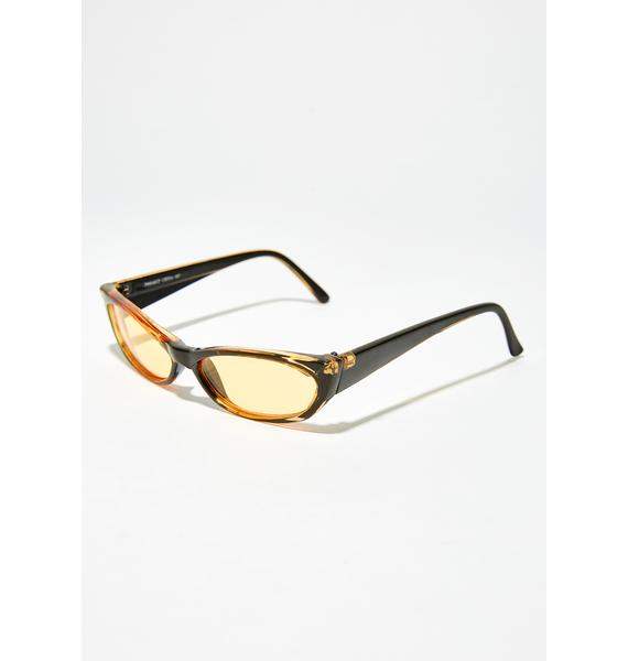 Amber Can't Buy Love Rectangle Sunglasses