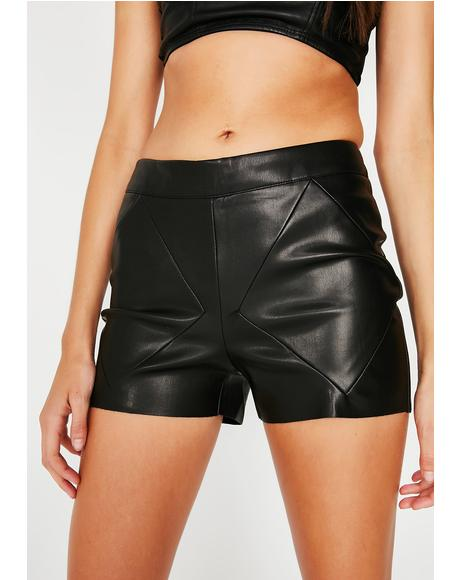 Let'z Cruise Pleather Shorts