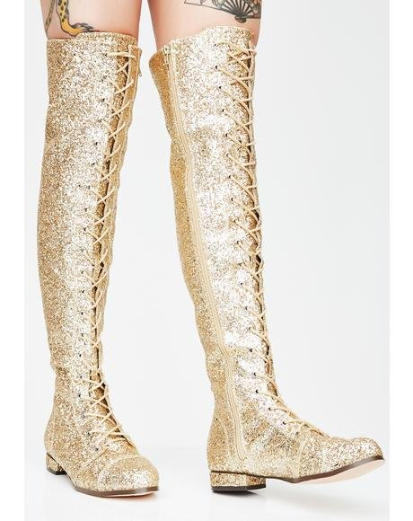 Millennial Diva Knee High Boots