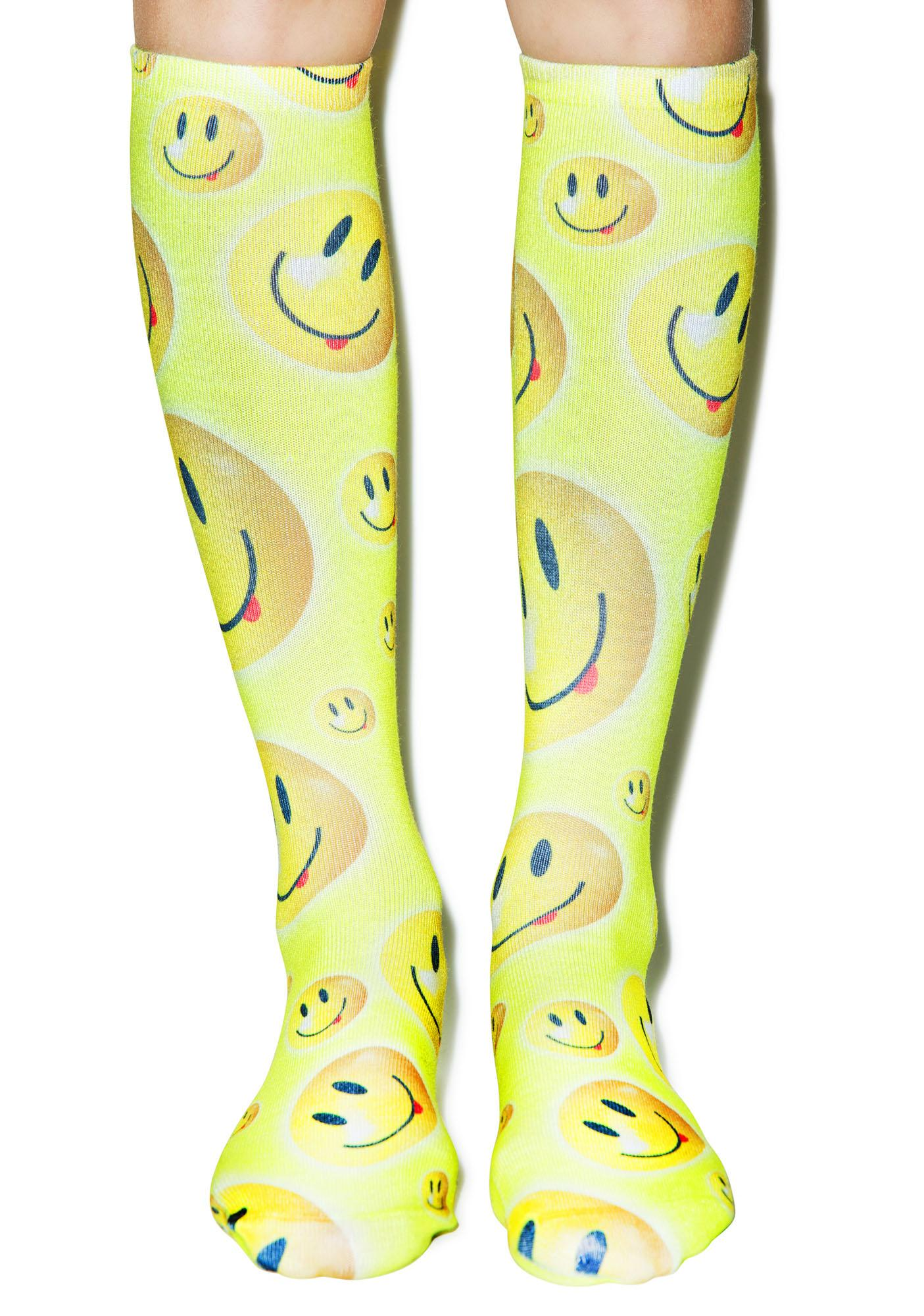 Be Happy Knee High Socks