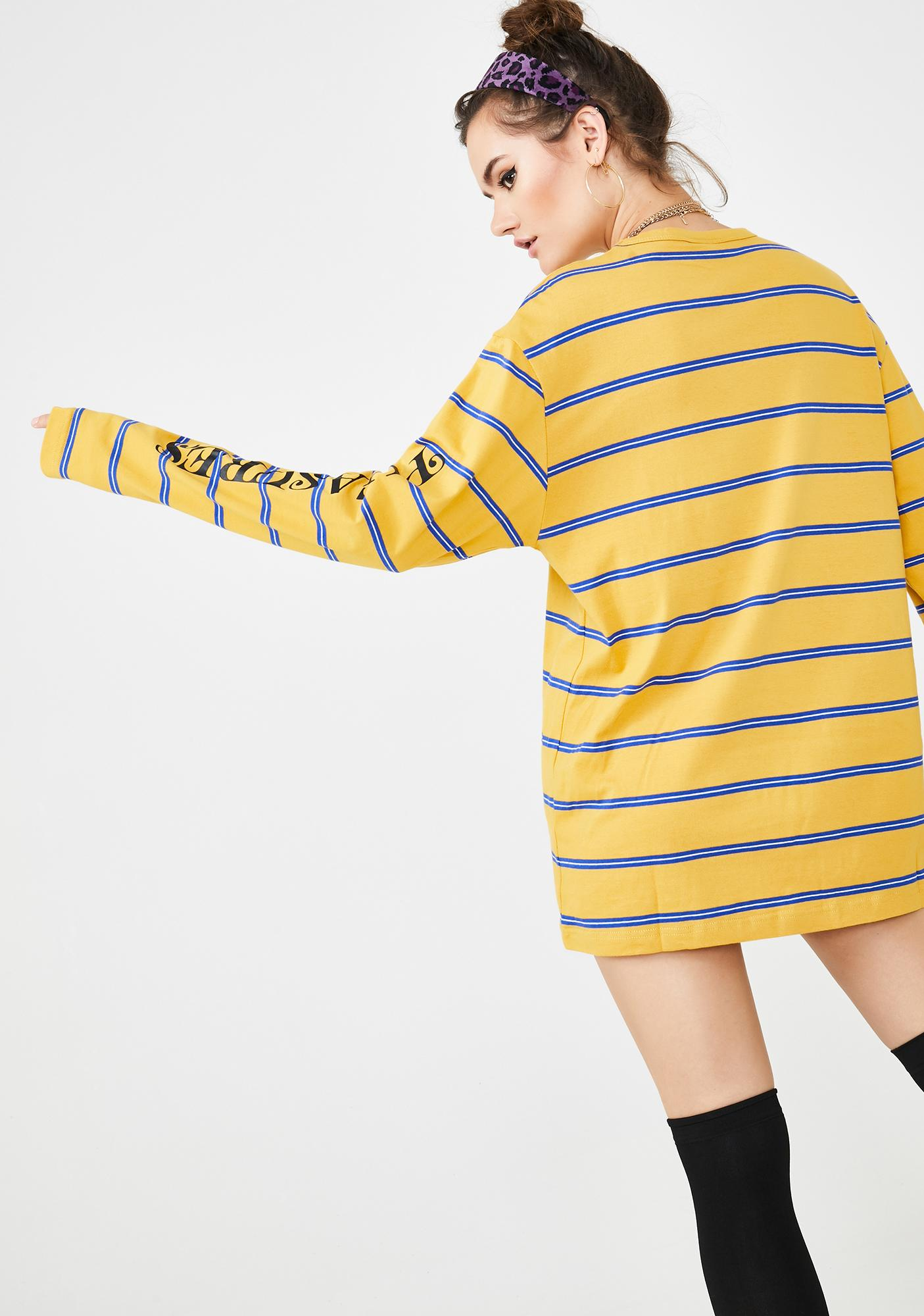 Pleasures Sour Scream Striped Long Sleeve Shirt