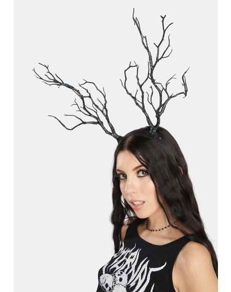 Wicked Branch Of Life Antler Headband