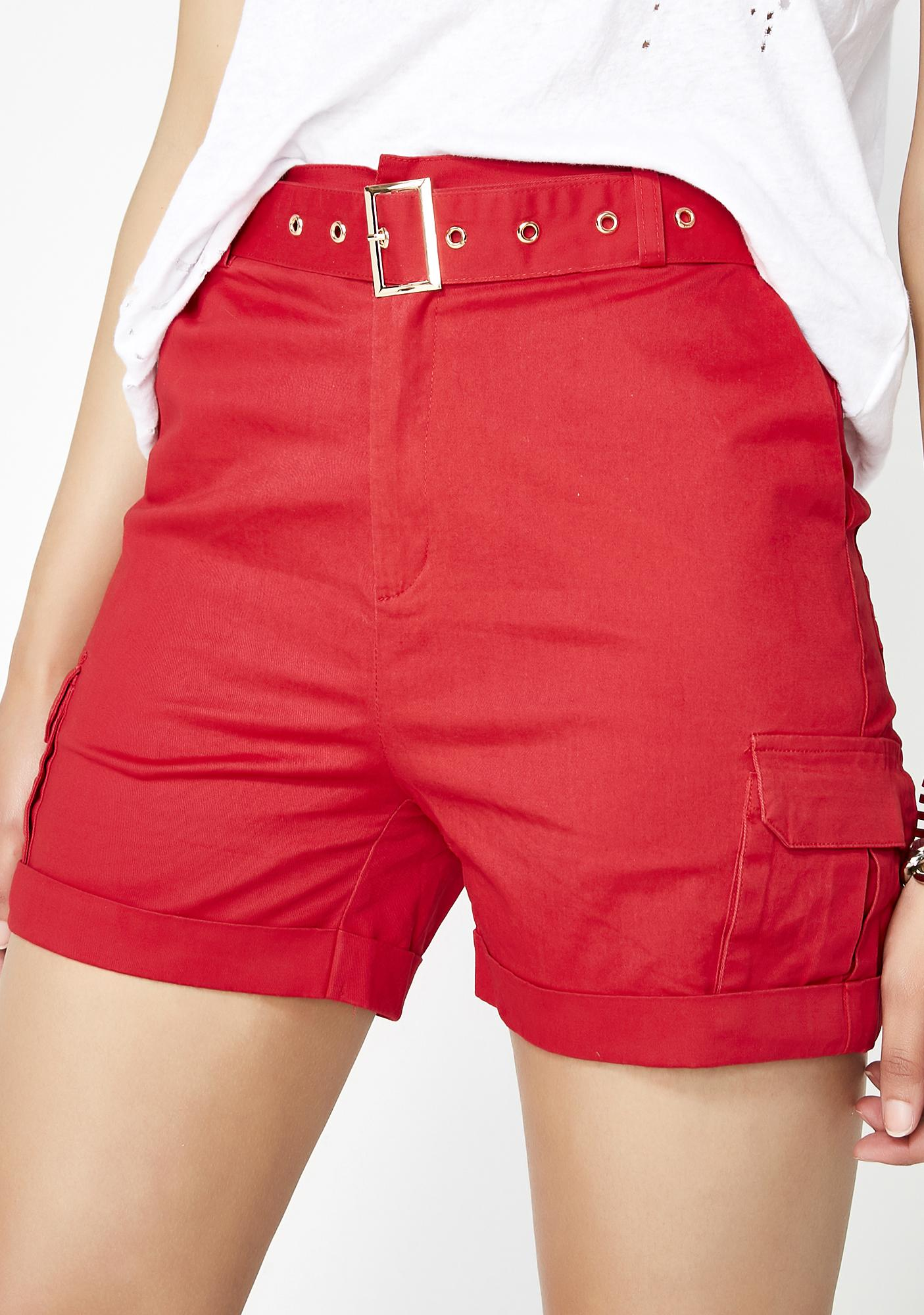 Siren Up A Notch Belted Shorts