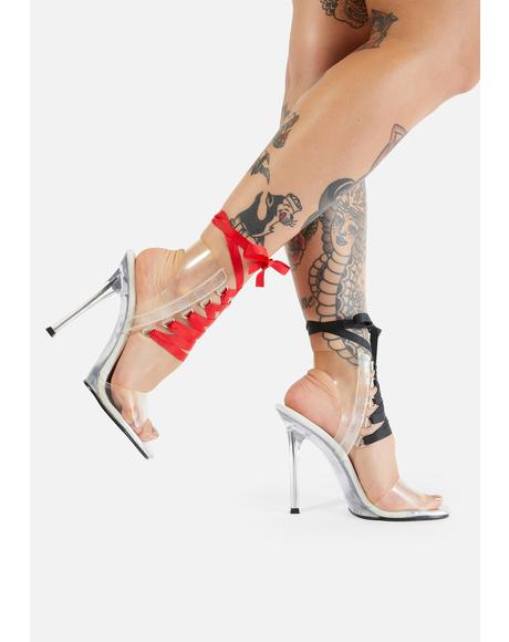 Switch Things Up Lace Up Heels